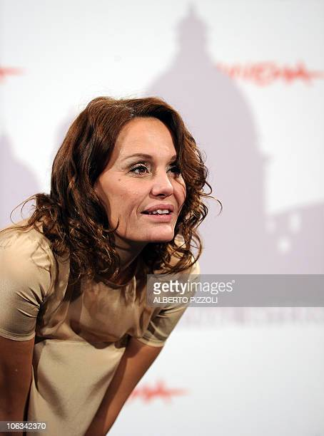 Italian actress Antonella Ponziani poses during the photocall of the movie 'La scuola e finita' directed by Valerio Jalongo in competition at the 5th...