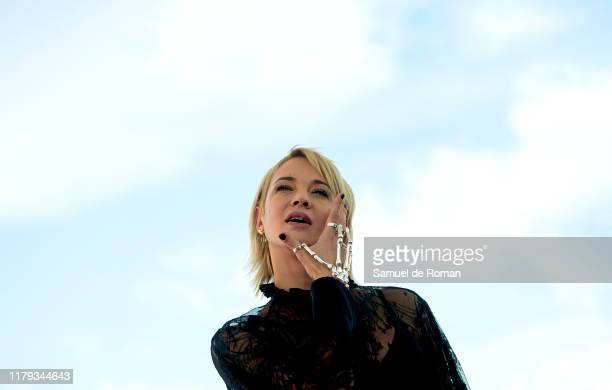 Italian actress Asia Argento attends Sitges Film Festival Photocall on October 06 2019 in Sitges Spain