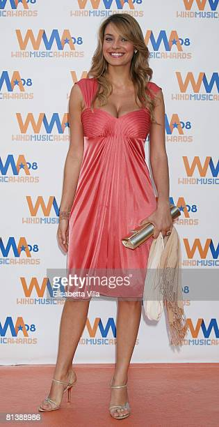 Italian actress Barbara Matera attends the 2008 Wind Music Awards at Villa Giulia on June 3 2008 in Rome Italy