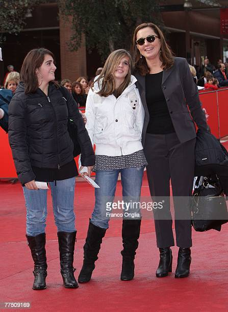 Italian Actress Barbara Palombelli attends the premiere for 'Enchanted'' during day 9 of the 2nd Rome Film Festival on October 26 2007 in Rome Italy