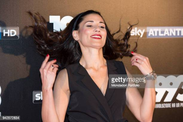 Italian actress Barbara Tabita attends the tv fiction premiere 1993 by Sky Tv at Spacecinema Odeon. Milan, May 11th, 2017