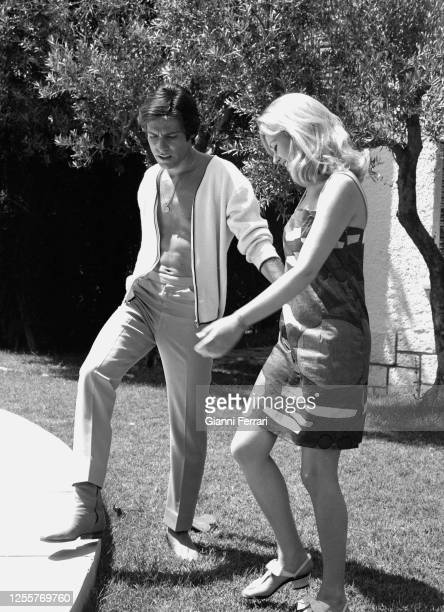 Italian actress Beba Loncar and French actor Olivier Despax filming Cover Girl Madrid Spain1968