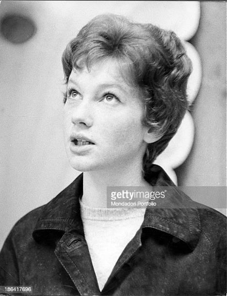 Italian actress Carla Gravina attending Sanremo in Fiore Sanremo 1959