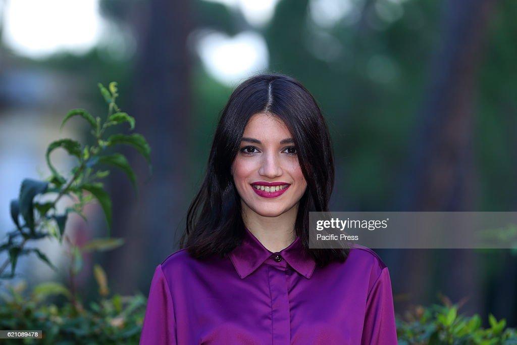 Italian actress Carlotta Antonelli during photocall of new... : News Photo