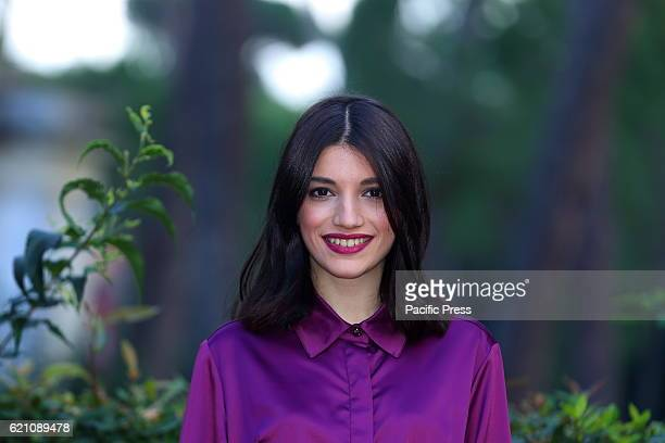 Italian actress Carlotta Antonelli during photocall of new fiction Mediaset Nome in Codice Solo directed by Michele Alhaique