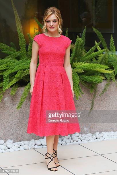 Italian actress Carolina Crescentini attends the 'Allacciate Le Cinture' photocall at Hotel Visconti on February 27 2014 in Rome Italy
