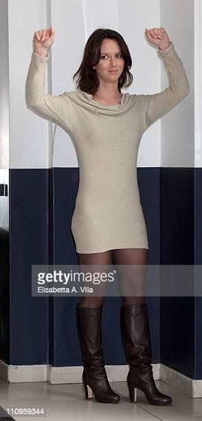 Italian actress Caterina Guzzanti attends Boris Il Film photocall at the Adriano Cinema on March 28 2011 in Rome Italy