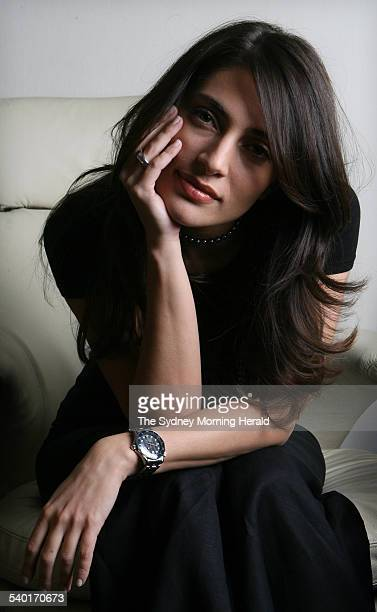Italian actress Caterina Murino who plays Solange one of James Bond's love interests in the new Bond film 'Casino Royale' at the Park Hyatt Hotel...