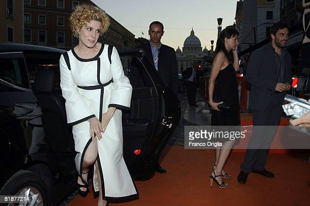 Italian actress Cecilia Dazzi arrives to attend the third day of Roma Fiction Fest 2008 at the Auditorium della Conciliazione on July 9, 2008 in...