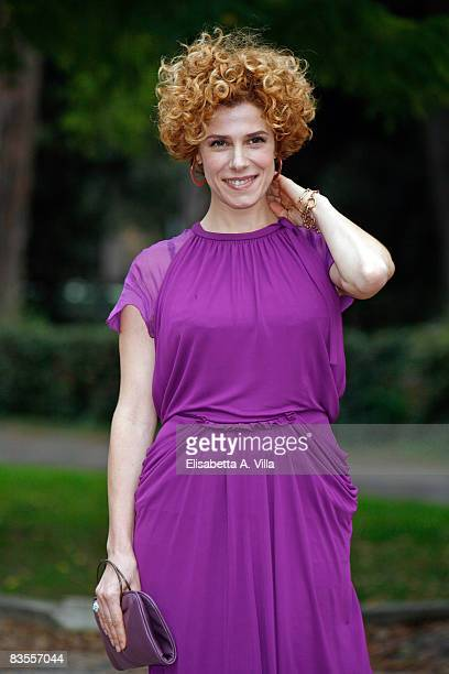 Italian actress Cecilia Dazzi attends a photocall promoting new Italian television serie Amiche Mie on November 4 2008 in Rome Italy