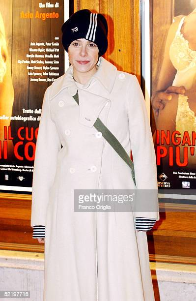 Italian actress Cecilia Dazzi attends the premiere of new movie The Heart Is Deceitful Above All Things at the Embassy Cinema on February 14 2005 in...