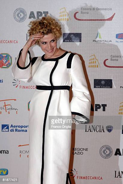 Italian actress Cecilia Dazzi attends the third day of Roma Fiction Fest 2008 at the Auditorium della Conciliazione on July 9 2008 in Rome Italy