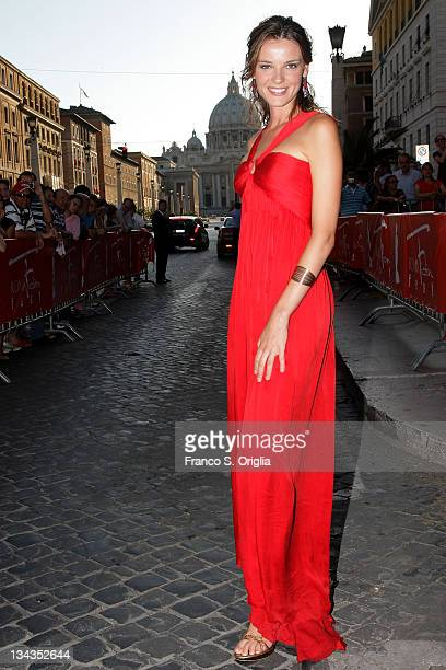 Italian actress Christiane Filangieri attends Roma Fiction Fest 2008 Closing Ceremony and Diamond Awards on July 12 2008 in Rome Italy