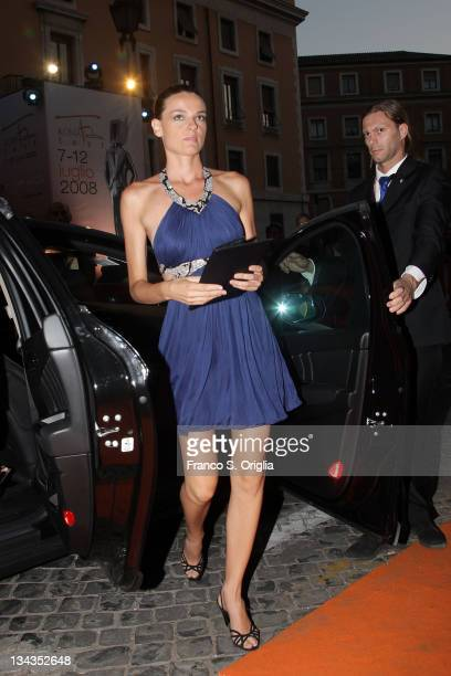 Italian actress Christiane Filangieri attends the fifth day of Roma Fiction Fest 2008 on July 11 2008 in Rome Italy