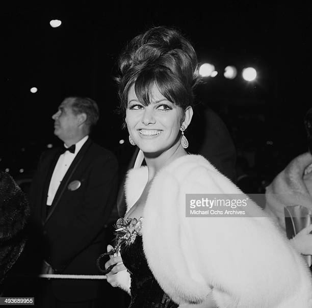 Italian actress Claudia Cardinale attends the Academy Awards in Los Angeles, California.