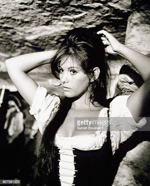 Italian actress Claudia Cardinale on the set of Cartouche written and directed by Philippe de Broca