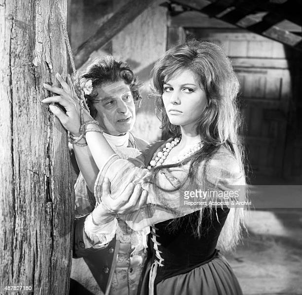 Italian actress Claudia Cardinale performing as a prisoner in Cartouche France 1962