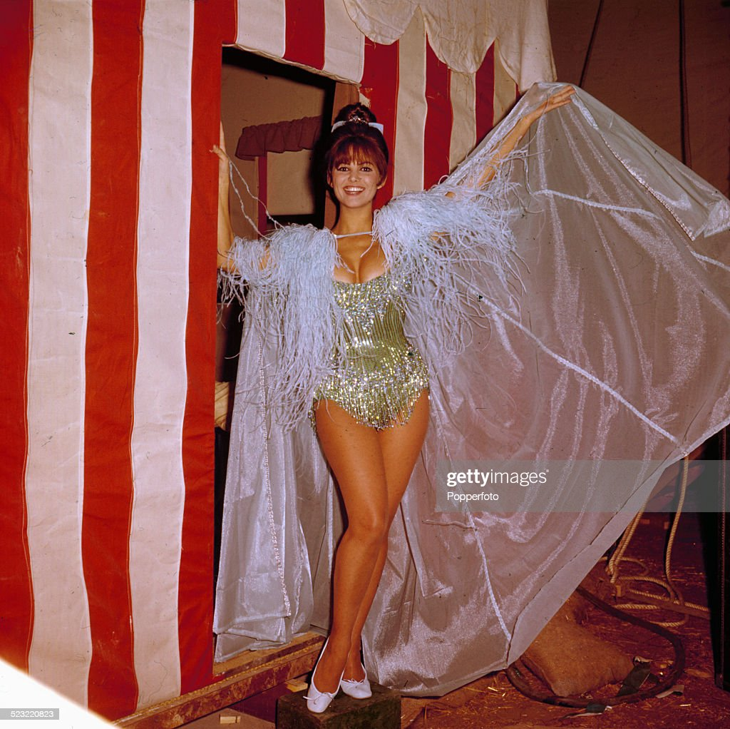 Italian actress Claudia Cardinale pictured in costume on the set of the film Circus World in 1964.