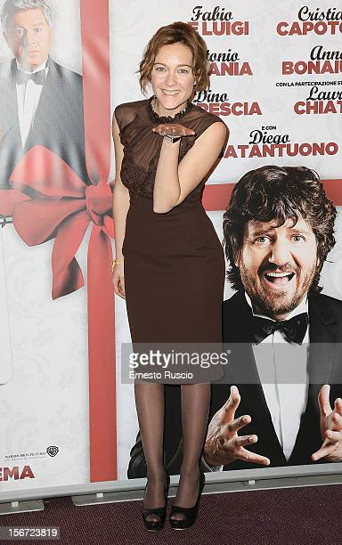 Italian actress Cristiana Capotondi attends the 'Il Peggior Natale Della Mia Vita' premiere at The Space Moderno on November 19 2012 in Rome Italy