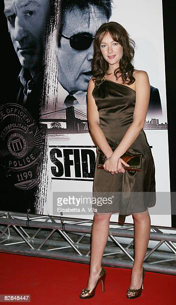 Italian actress Cristiana Capotondi attends the 'Righteous Kill' premiere at the Warner Cinema Moderno on September 16 2008 in Rome Italy