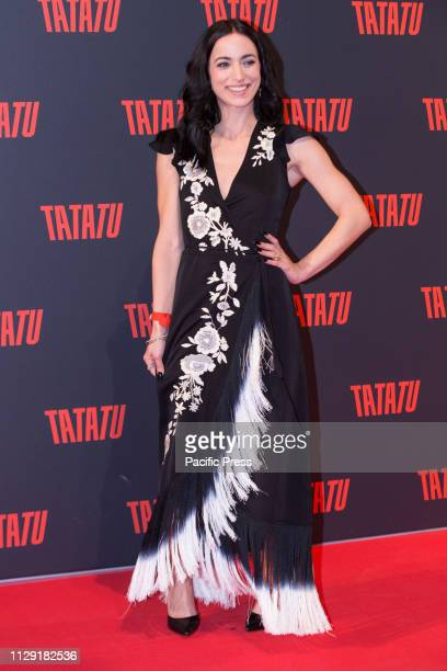 TIBURTINA 521 ROMA RM ITALY Italian actress Cristina Pelliccia during the Red Carpet for the presentation in Italy of TaTaTu the first free social...