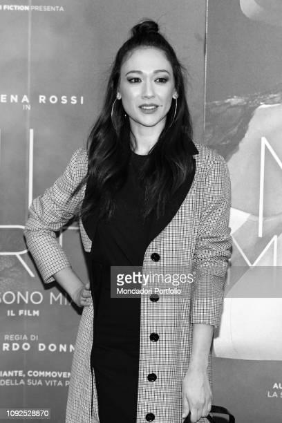 Italian actress Dajana Roncione at the press conference for the presentation of the film Io sono Mia dedicated to Mia Martini Milan January 10th 2019