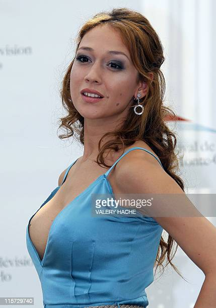Italian actress Dajana Roncione poses during a photocall for the 2011 Monte Carlo Television Festival held at the Grimaldi Forum on June 9 2011 in...