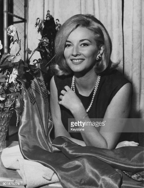Italian actress Daniela Bianchi star of the James Bond film 'From Russia With Love' visits a boutique in Rome Italy 27th November 1963