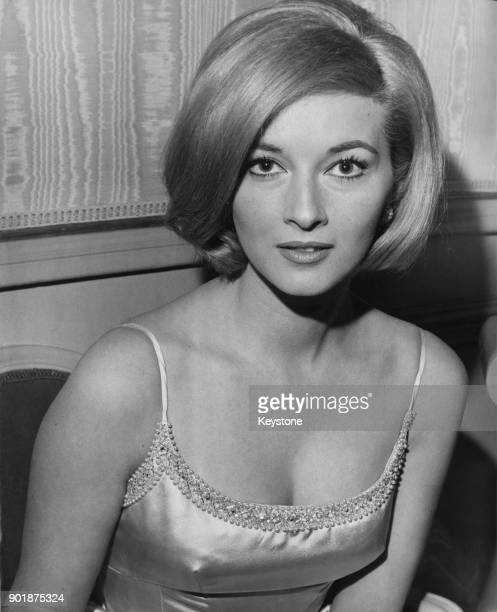 Italian actress Daniela Bianchi who has been cast in the upcoming James Bond film 'From Russia With Love' during a reception at the Connaught Hotel...