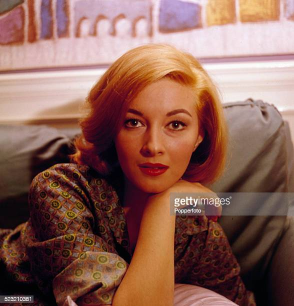 Italian actress Daniela Bianchi who plays Tatiana Romanova in the James Bond film From Russia With Love, posed at home in London in 1963.