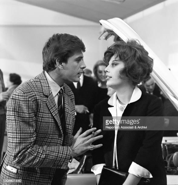 "Italian actress Daniela Rocca and Cuban-born American actor Tomas Milian on the set of the film ""The Attic"". 1962"