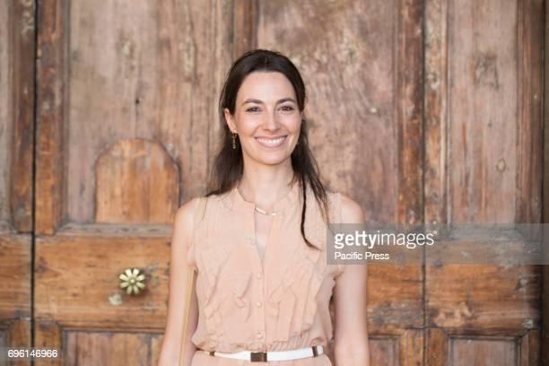 Italian actress Daniela Virgilio during the photocall of the 2017 Globe Awards ceremony evening in the Villa Medici Gardens