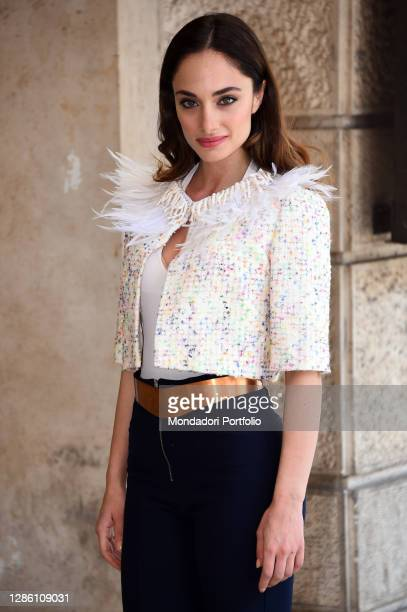 Italian actress Denise Capezza attend serial Gomorra second season photocall in the Opera theater. Rome , May 09th, 2016