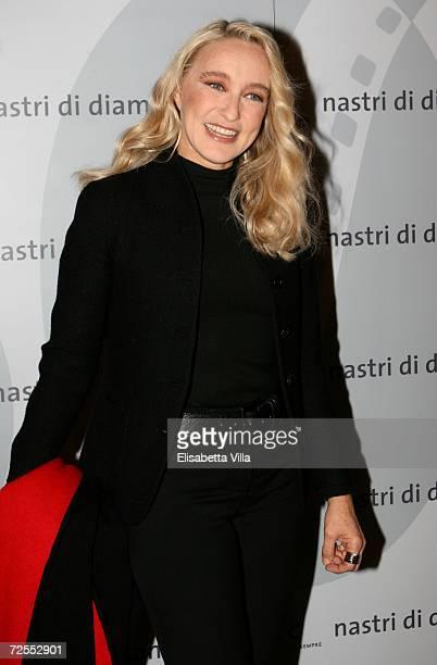 Italian actress / director Eleonora Giorgi arrives to the Fendi party 'Nastri di Diamante' at the Palazzo Fendi on November14 2006 in Rome Italy