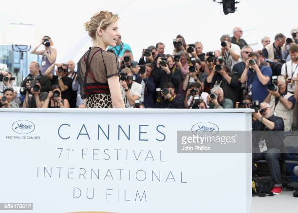 Italian actress Elena Radonicich attends the 'In My Room' Photocall during the 71st annual Cannes Film Festival at Palais des Festivals on May 17...