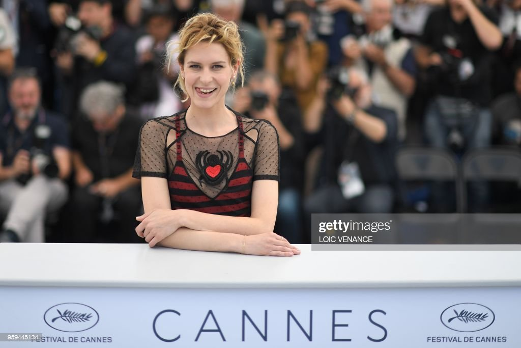 TOPSHOT - Italian actress Elena Radonicich poses on May 17, 2018 during a photocall for the film 'In My Room' at the 71st edition of the Cannes Film Festival in Cannes, southern France.