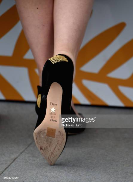 Italian actress Elena Radonicich shoe detail attends the 'In My Room' Photocall during the 71st annual Cannes Film Festival at Palais des Festivals...