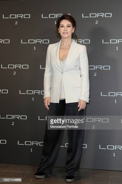 Italian actress Elena Sofia Ricci , in Armani, at Loro 2 photocall at The Space Moderno Cinema. Rome, May 2nd 2018