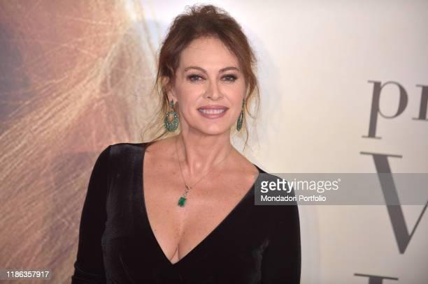 Italian actress Elena Sofia Ricci participates in the fifth edition of the Virna Lisi award at the Auditorium Parco della Musicaon November 07, 2019...
