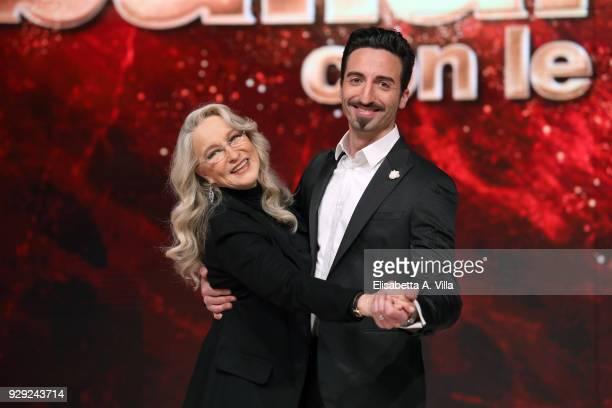 Italian actress Eleonora Giorgi and her dance partner Samuel Peron attend a photocall for 'Ballando Con Le Stelle' at RAI Auditorium on March 8 2018...