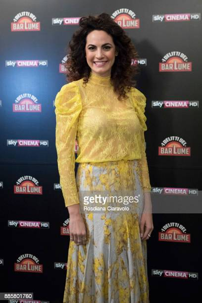 Italian actress Enrica Guidi attends 'I delitti del BarLume' photocall during Noir In Festival on December 4 2017 in Milan Italy