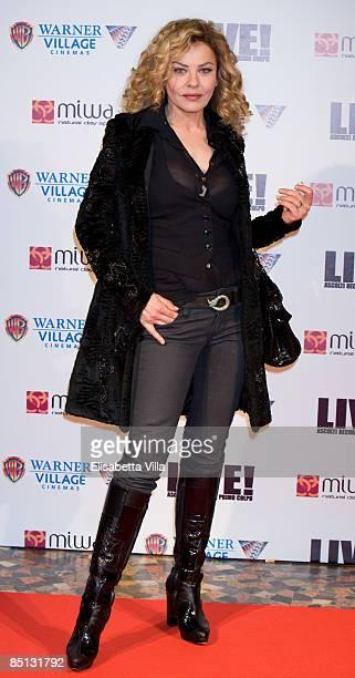 Italian actress Eva Grimaldi attends 'Live' premiere at Warner Cinema Moderno on February 26 2009 in Rome Italy