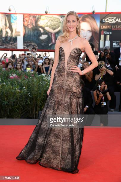 Italian actress Eva Riccobono arrives at the closing ceremony of the 70th Venice International Film Festival at Palazzo del Cinema on September 7...