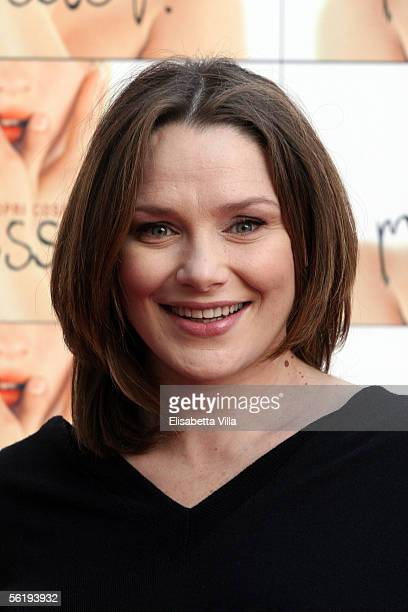 Italian actress Fabrizia Sacchi attends the Italian photocall for new film Melissa P at the Cinema Warner Moderno on November 17 2005 in Rome Italy...