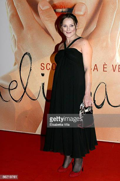 Italian actress Fabrizia Sacchi attends the Italian premiere for the new film Melissa P at the Cinema Warner Moderno on November 17 2005 in Rome...