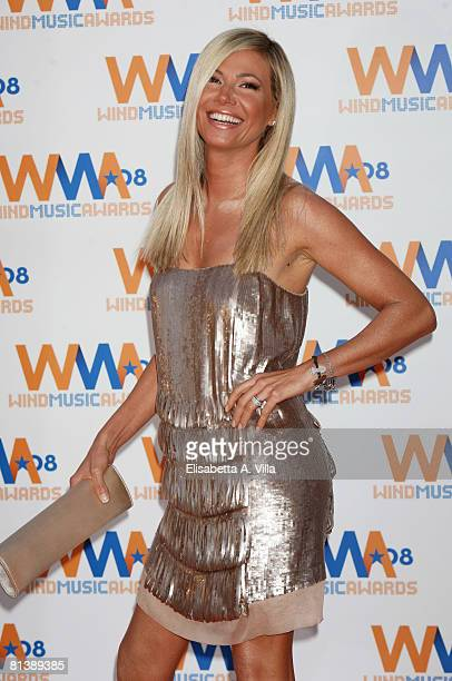 Italian actress Federica Panicucci attends the 2008 Wind Music Awards at Villa Giulia on June 3, 2008 in Rome, Italy.