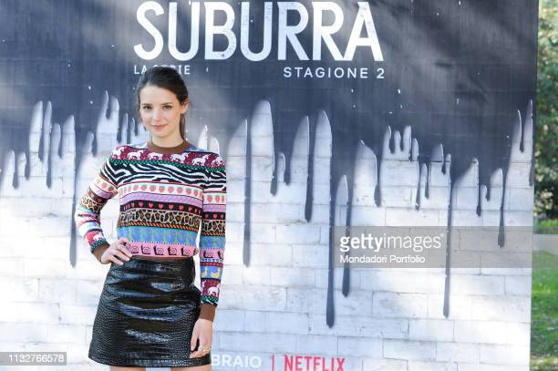 Italian actress Federica Sabatini during Suburra The series second season photocall at the Casa del Cinema at Villa Borghese Rome February 20th 2019