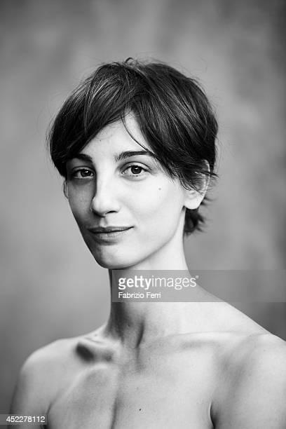 Italian actress Francesca Inaudi is photographed in October 2010 in Milan Italy