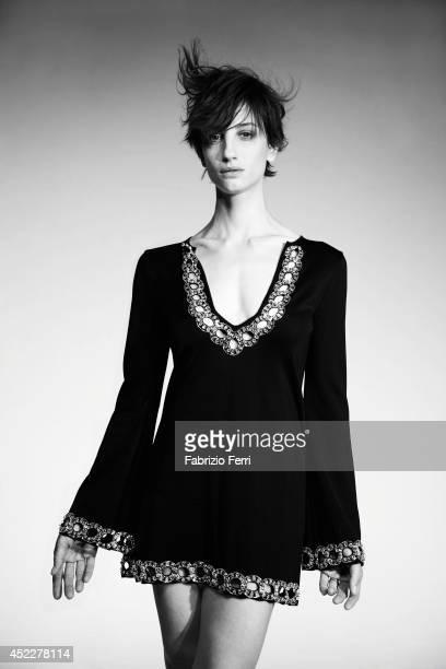 Italian actress Francesca Inaudi is photographed in October 2010 in Milan, Italy.