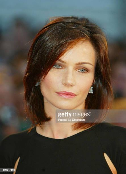 Italian actress Francesca Neri attends the opening ceremony of the 59th Venice Film Festival August 29 2002 in Venice Italy The annual film festival...